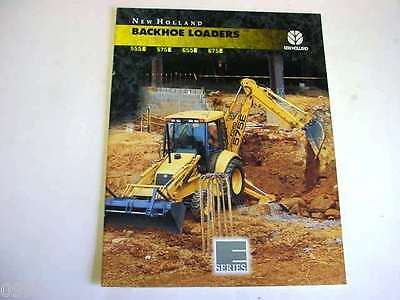 New Holland 555e 575e 655e 675e Tractor Loader Backhoe Color Sales Brochure 1996