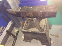 Blacksmiths Iron Anvil 77 kgs with stand HYDE CHESHIRE AREA