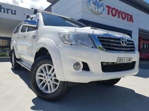 2012 Toyota Hilux KUN26R MY12 SR5 (4x4) White 5 Speed Manual Dual Cab Pick-up Greenway Tuggeranong Preview