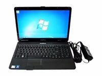 """E-Machines E725/E525 15"""" Laptop 160GB Drive Celeron Processor. No Operating System"""