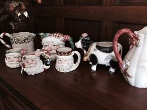 FITZ & FLOYD DECORATIVE CHINA !!!! 8pcs IN TOTAL