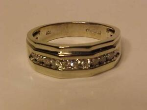 #1229-10K WHITE GOLD W/Band dress ring--1/2carat Brilliant White DIAMONDS(11)APPRAISED $2,150.00-SELL $550.00 LAYAWAY