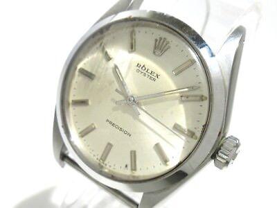 Auth ROLEX Oyster 6426 Silver 2042331 Men