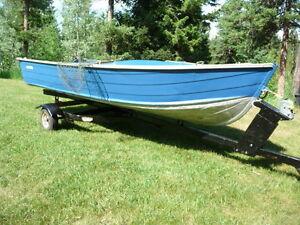 14 ft Smoker craft, trailer and 7.5 HP Honda 4 stroke