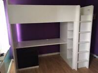 Kids Loft Bed with Desk - Great Condition!
