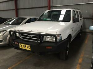 2004 Ford Courier PG GL White 5 Speed Manual Utility Sandgate Newcastle Area Preview