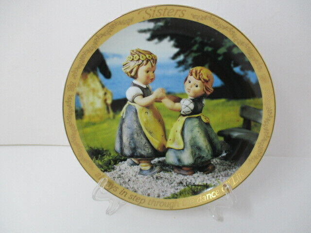 "Danbury Mint Hummel Sisters Through The Dance Of Life 8"" Decorative Plate"
