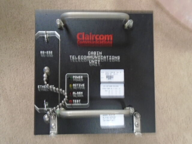 CLAIRCOM CABIN TELECOMMUNICATIONS UNIT  USED, SLIGHTLY USED  C23VC-7700-08