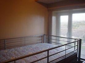 metal loft bed.
