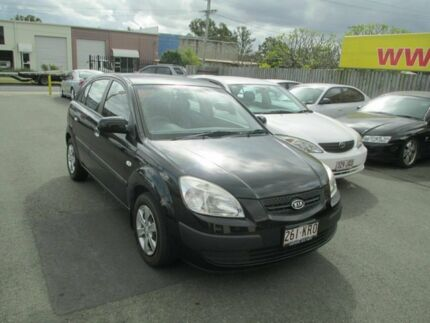 2007 Kia Rio JB LX Black 5 Speed Manual Hatchback Coopers Plains Brisbane South West Preview