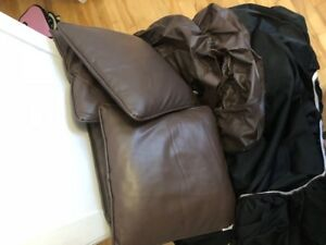 leather covers for furniture salon set of 3/2 and 1 seaters.