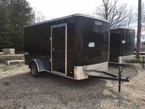 6x12 Enclosed 2018 Ramp Door trailer