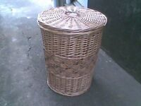 wicker clothes basket plus lid