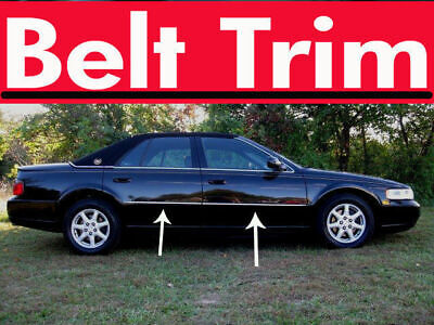 For Cadillac SEVILLE Chrome Body Side Molding Trim Kit 1998-2004