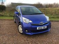 TOYOTA VERSO-S 1.3 AUTO 5 DOOR 2012 *ONLY 43K MILES, FSH, IMMACULATE*