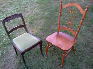 VARIOUS CHAIRS, SETS OF 4, 3, 2 & SINGLE CHAIRS - SOME ANTIQUE Cornwall Ontario image 6