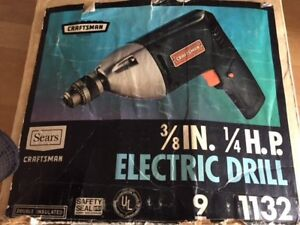 Craftsman 3/8 in 1/4 H.P Electric Drill