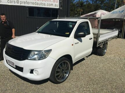 2012 Toyota Hilux Workmate White 5 Speed Manual Trayback Biggera Waters Gold Coast City Preview