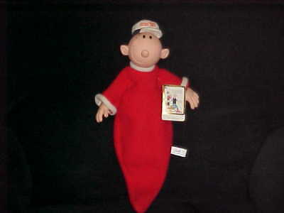 """17"""" Popeye Swee' Pea Plush Doll With Tags By Presents 1985 Adorable"""