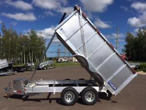 NEW 2018 THOR 6' x 12' HIGH SIDE ALUMINUM DUMP TRAILER
