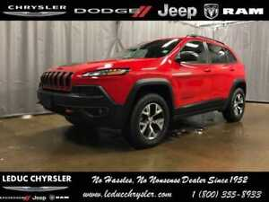 2017 Jeep Cherokee Trailhawk FLAT TOWABLE SUNROOF LEATHER HEATED