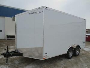 """8.5' X 14' STEALTH CARGO, WITH 30"""" FRONT WEDGE, 84"""" INT HEIGHT"""