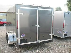 2016 7X14 V-Nose Enclosed Trailer with barn door (Screwless) London Ontario image 3