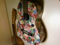 Lost Decoupage Acoustic Guitar