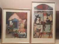 TWO Framed Pictures by Rosina Wachtmeister