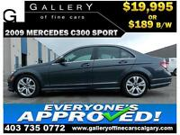 2009 Mercedes C300 SPORT $189 bi-weekly APPLY NOW DRIVE NOW