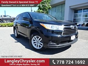 2016 Toyota Highlander LE ACCIDENT FREE w/ ALL-WHEEL DRIVE, R...