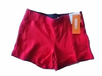 NWT Girl's Gymboree Star Spangled Banner July 4th red midi elastic shorts 7 8 - Star Spangled Girl