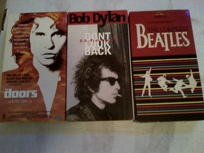 DYLAN BEATLES THE DOORS - 3 VHS - Dont Look Back - Val Kilmer