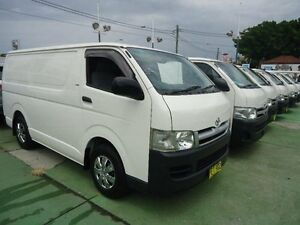 2007 Toyota Hiace KDH201R MY07 Upgrade LWB White 4 Speed Automatic Van Canada Bay Canada Bay Area Preview