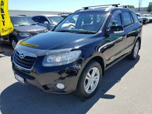 2010 Hyundai Santa Fe CM MY10 Highlander CRDi (4x4) Black 6 Speed Automatic Wagon Wangara Wanneroo Area Preview