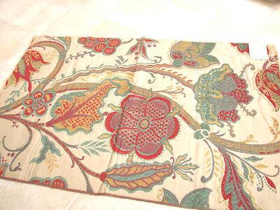 Vintage 30s 40s Fabric  Upholstery JACOBEAN FLORAL Cotton Schumacher