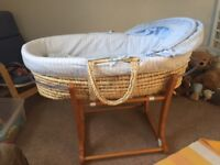 Moses basket with hood.