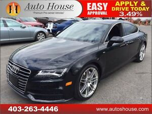 2013 Audi A7 S-LINE NAV, BCAM, SUNROOF, AWD 90 DAY NO PYMT