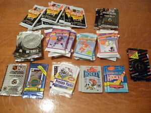 Lot de paquets de cartes de hockey (48x)