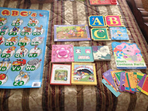 11 KIDS BOOKS, ALPHABET, PUZZLE all for $7