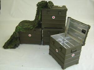 BW ZARGES Kiste A10 60x40x50 cm Box Behälter Werkzeugkiste ALU Bundeswehr