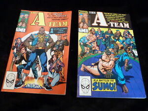 A-Team comics (2) First Collector's Issue plus BA Battles Sumo