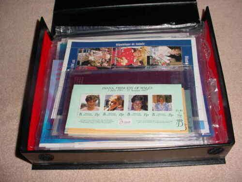 International Collectors Society Princess Diana SOUVENIR SHEETS & Case 35 SHEETS