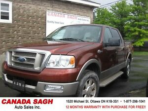 2005 Ford F150 King Ranch TOP PRESTIGE 4WD !! 12M.WRTY $12900