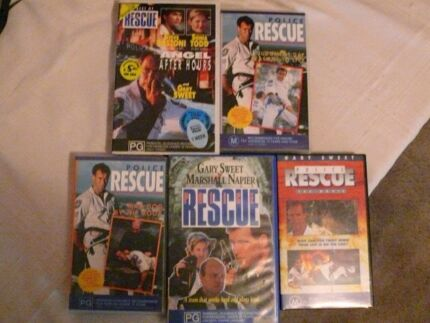 Police rescue VHS tapes x 5
