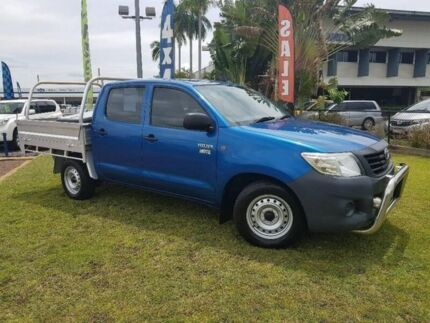 2014 Toyota Hilux TGN16R MY14 Workmate Double Cab Blue 5 Speed Manual Utility