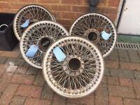 Series 2 E Type Jaguar Wheels Rims - Was £1000 Now Only £490 - Want Them Gone