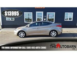 2013 HYUNDAI ELANTRA LTD - heated leather seats, bluetooth
