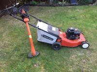 Petrol lawn mower & flymo trimmer