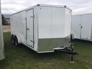 """-*-*New 7ft x 16ft Look Cargo Trailer w/18"""" Wedge*-*- Tax In $$"""